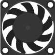 MakerBot The Replicator Electronics extruder fan.png