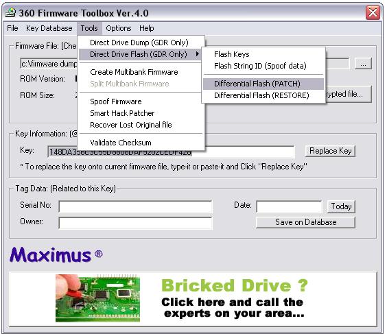 360 firmware tool box: