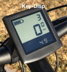 Key-disp black/white display